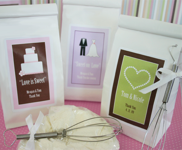 """Love is Sweet"" Sugar Cookie Mix wedding favors"