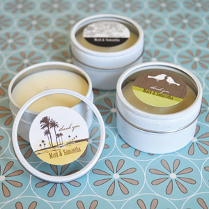 Elite Design Personalized Round Candle Tins  wedding favors