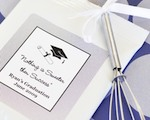 """Hats off to You"" Graduation Hot Cocoa + Optional Heart Whisk wedding favors"