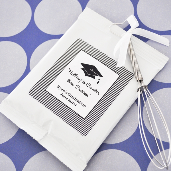 """Hats off to You"" Graduation Lemonade + Optional Heart Whisk wedding favors"