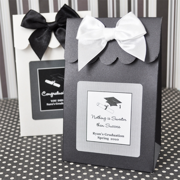 Sweet Shoppe Candy Boxes - Graduation wedding favors