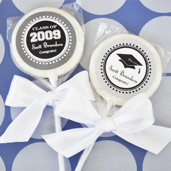 """Hats off to You"" Personalized Graduation Lollipop Favors wedding favors"