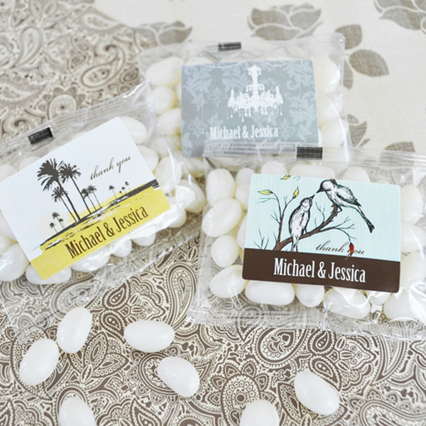 Elite Design Personalized Jelly Bean Packs  wedding favors