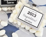 """Hats off to You"" Graduation Jelly Bean Packs  wedding favors"
