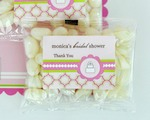 Personalized Jelly Bean Packs - Pink Cake  wedding favors