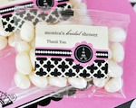 Personalized Jelly Bean Packs - Parisian Party  wedding favors