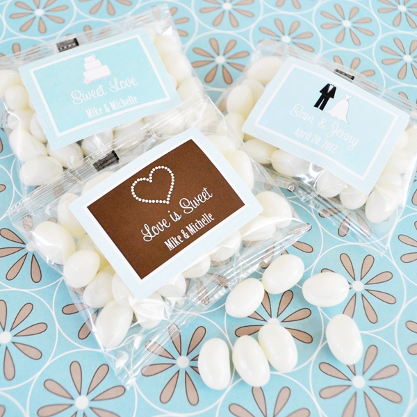 Personalized Theme Jelly Bean Packs  wedding favors