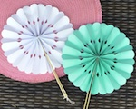 Rosette Paper Fans wedding favors