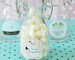 Elite Design Baby Shower Mini Glass Bottles  wedding favors