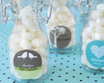 Elite Design Personalized Mini Glass Bottles  wedding favors