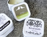 Elite Design Personalized Square Candle Tins wedding favors