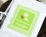 """Fall for Love"" Personalized Hot Cappuccino + Optional Heart Whisk wedding favors"