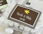 """Fall for Love"" Personalized Jelly Bean Packs  wedding favors"