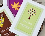 """Fall for Love"" Personalized Wildflower Seed Favors wedding favors"