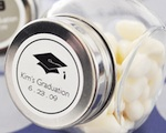 """Hats off to You"" Graduation Candy Jars wedding favors"