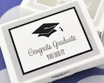 """Hats off to You"" Graduation Gum Boxes wedding favors"