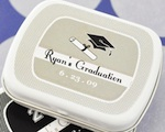 """Hats off to You"" Graduation Mint Tins wedding favors"