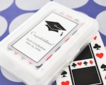 """Hats off to You"" Graduation Playing Cards wedding favors"