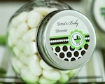 Personalized Candy Jars - Green Baby  wedding favors