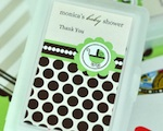 Personalized Playing Cards - Green Baby wedding favors