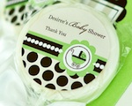 Personalized Lollipop Favors - Green Baby  wedding favors