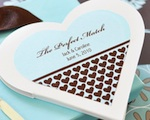 """The Perfect Match"" Personalized Heart Matchbooks wedding favors"