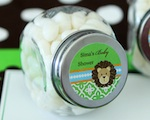 Personalized Candy Jars - Jungle Safari  wedding favors