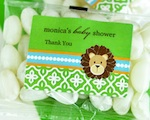 Personalized Jelly Bean Packs - Jungle Safari  wedding favors