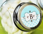 Mod Monogram Candy Jars  wedding favors