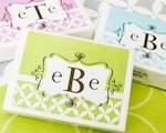 Mod Monogram Gum Boxes  wedding favors