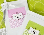 Mod Monogram Personalized Lemonade + Optional Heart Whisk  wedding favors