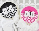 Mod Monogram Personalized Lollipop Favors  wedding favors