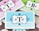Personalized Mod Monogram Mini Mint Favors wedding favors