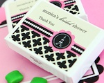 Personalized Gum Boxes - Parisian Party  wedding favors
