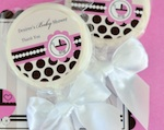 Personalized Lollipop Favors - Pink Baby wedding favors