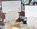 Shell Place Card Favor Boxes with Designer Place Cards wedding favors
