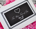 """Tears of Joy"" Personalized Tissue Packs wedding favors"