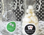 Vegas Personalized Mini Glass Bottles  wedding favors