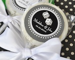 """A Lucky Pair"" Personalized Vegas Lollipop Favors wedding favors"