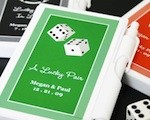 """A Lucky Pair"" Vegas Themed Notebooks wedding favors"