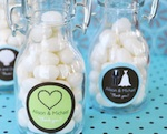 Theme Personalized Mini Glass Bottles  wedding favors