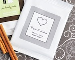 """Apple of My Eye"" Personalized Hot Apple Cider wedding favors"