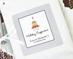 """A Winter Holiday"" Personalized Hot Cappuccino + Optional Heart Whisk wedding favors"