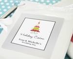 """A Winter Holiday"" Personalized Hot Cocoa + Optional Heart Whisk wedding favors"
