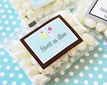 """A Winter Holiday"" Personalized Jelly Bean Packs  wedding favors"