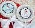 """A Winter Holiday"" Personalized Lollipop Favors wedding favors"