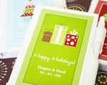 """A Winter Holiday"" Personalized Notebook Favors wedding favors"