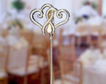 Double Heart Place Card Holders wedding favors