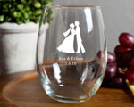 Stemless Wine Glasses 15 Ounce wedding favors