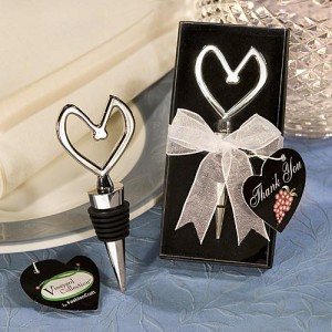 Vineyard Collection Heart Themed Wine Stoppers wedding favors